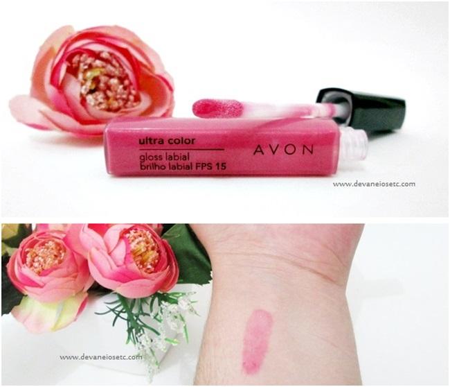 gloss labial avon ultra color cor rosa antigo