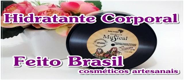 hidratante corporal feito brasil musical tropicalia miniatura