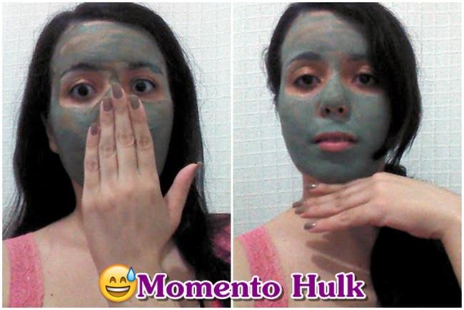 verde no rosto
