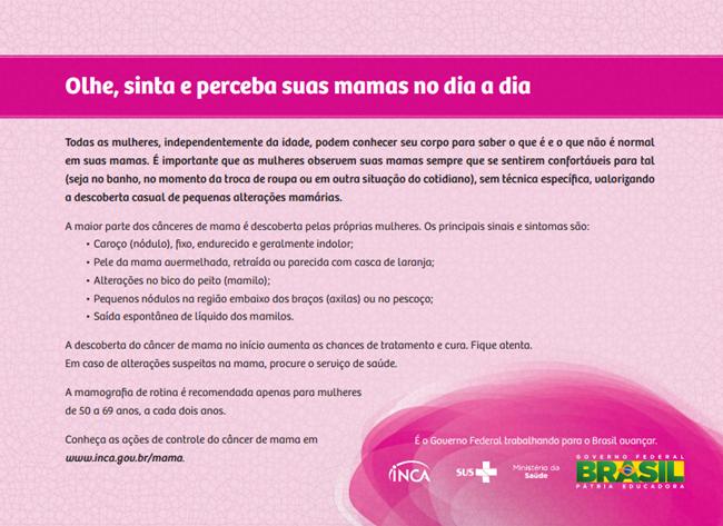 inca outubro rosa cancer de mama
