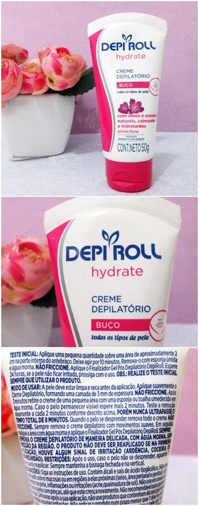 Creme Depilatório Buço Hydrate da DEPI ROLL