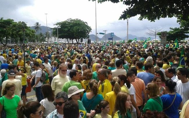 manifestação - protestos - rio de janeiro - posto 5