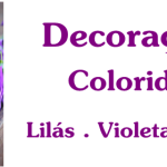 Decoração lilás e roxa para a casa