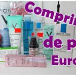 Comprinhas de produtos para pele
