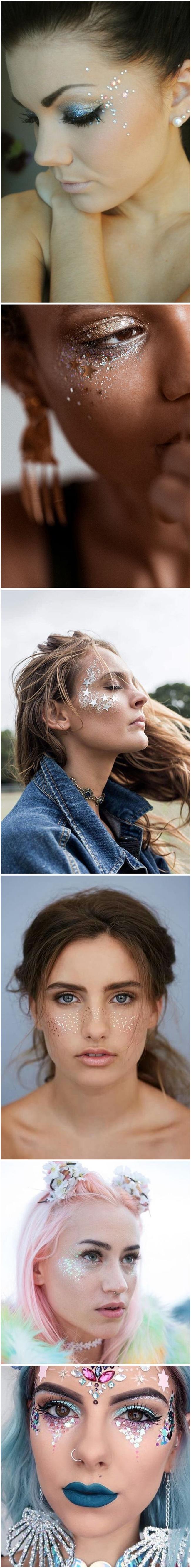 maquiagem para carnaval com glitter . devaneios etc
