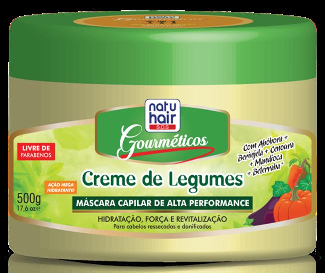 Gourméticos Creme de Legumes - NatuHair da Skafe Cosméticos