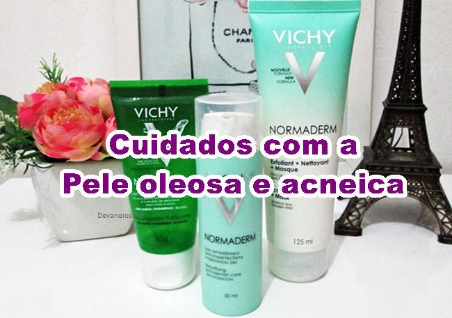 Top 3 produtos para pele oleosa da Vichy