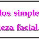 Cuidados simples de beleza facial
